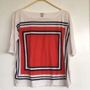 J CREW Graphic T-Shirt M